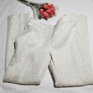 Ann Taylor Signiture Ankle Jaquard Shimmer Pants